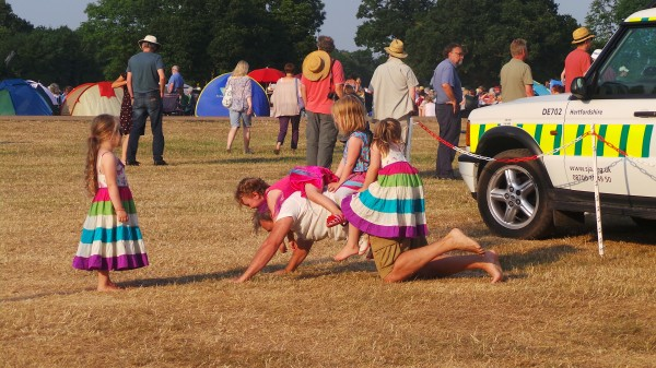 Children Play At Festival