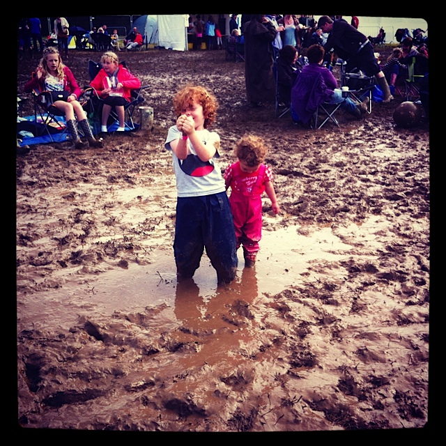 Kids love muddy festivals